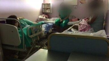 Maternidade do Hospital da Ceilândia fica superlotada - No Hospital da Ceilândia, mulheres estão ganhando bebê no corredor e de forma improvisada. Quem trabalha no local conta que a situação piora cada vez mais a cada dia, com paciente de mais e médico de menos.