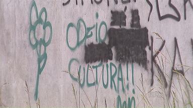 População pode denunciar pichações pelo número 153 - No ano passado, apenas 11 denúncias foram feitas em Ponta Grossa