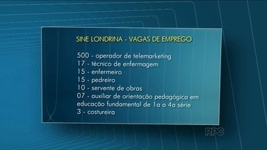 Sine oferece 601 vagas nesta segunda-feira - Quinhentas vagas são para operador de telemarketing.