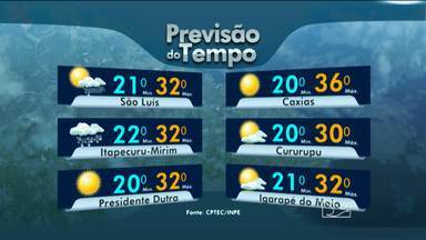 Veja como fica a previsão do tempo para esta segunda-feira (18) no Maranhão - Deve chover em toda a região leste do estado; veja a previsão do tempo.