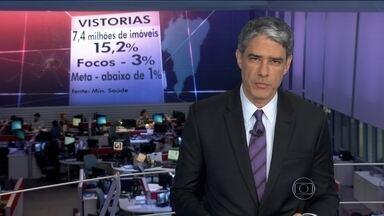 Agentes de saúde e militares visitam 7,4 milhões de residências em busca do aedes aegypti - O número representa só 15 %dos imóveis urbanos brasileiros. Por isso, a meta de 100%que o governo tinha anunciado foi transferida de janeiro para o fim de fevereiro.