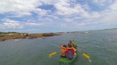 Em Movimento: Da Praia da Costa, fomos até a Ilha Pituã! - A Miss ES, Juliana Morgado, e o fotógrafo Pepê Silva acompanharam a gente, para apreciar a beleza da ilha e tirar belas fotos.