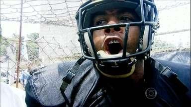 Time de futebol americano do Corinthians faz peneira para montar a equipe para 2016 - Cássio Barco acompanhou essa etapa da formação do time