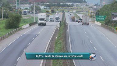 Cai o número de acidentes no trecho mineiro da Rodovia Fernão Dias no último ano - Cai o número de acidentes no trecho mineiro da Rodovia Fernão Dias no último ano