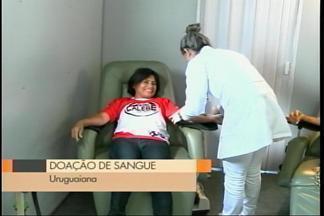 Hemocentro recolhe doações em unidade móvel em Uruguaiana, RS - Assista ao vídeo.