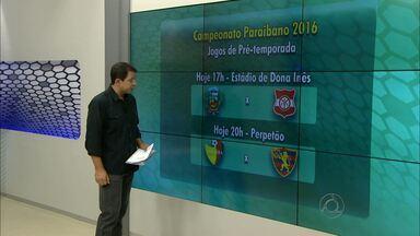 Confira os jogos da pré-temporada do Campeonato Paraibano de 2016 - Veja o giro pelos jogos que irão acontecer na última semana de pré temporada para o Campeonato Paraibano.