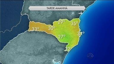 Temperaturas voltam a subir nesta sexta (29) em Santa Catarina - Temperaturas voltam a subir nesta sexta (29) em Santa Catarina