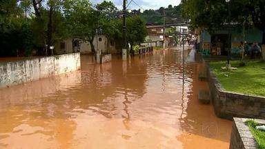 Chuva faz nível do rio subir dez metros em Piau - Casas foram invadidas pelas águas e bananais ficaram destruídos.
