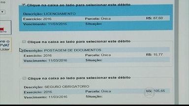 Detran de Pernambuco começa a cobrar taxa de postagem - Tarifa custa R$ 15,77. Quem não quiser pagar, deve buscar o boleto pessoalmente.