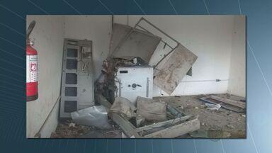 Suspeitos destroem caixa eletrônico em supermercado de Conchal - Os bandidos destruíram um caixa eletrônico no centro da cidade. Ação ocorreu por volta das 3h30 em um supermercado. O caixa ficou destruído, mas os bandidos não conseguiram pegar nenhum dinheiro.