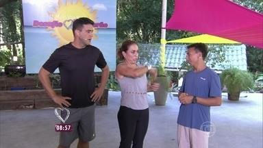 Especialista em slackline explica como será o Desafio Verão de hoje - Cissa e André tiram todas as dúvidas sobre o esporte com Gideão Melo
