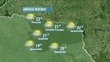 Dias de carnaval devem ser molhados na região norte do Paraná - Veja como fica a previsão do tempo.