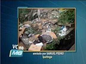 VC no MG: Telespectador de Ipatinga reclama de ruas cheias de entulho - Bairro Betânia passa por transtornos por causa da quantidade de lixo.
