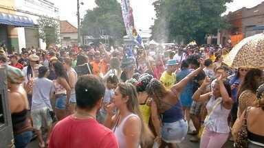 Bloco de carnaval em Campo Grande traz chuva repentina e marchinhas - Tudo começou em 2006 e anos depois, rainha se empolga com sucesso. Marchinhas ditam o ritmo da festa que saiu pelas ruas da cidade.