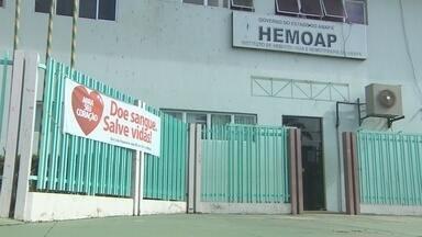 Hemoap consegue ampliar número de bolsas de sangue durante campanha - Em três dias de campanha de doação, o Hemoap conseguiu ampliar o número de bolsas de sangue.