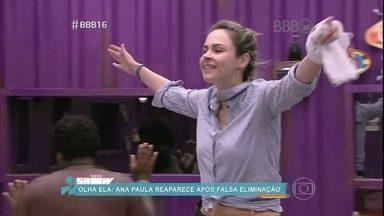 BBB16 tem reviravolta digna de novela - Ana Paula volta para a casa após falsa eliminação