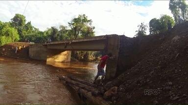 Ponte na zona sul de Londrina não será interditada - A ponte foi construída na zona sul da cidade após a chuva de janeiro.