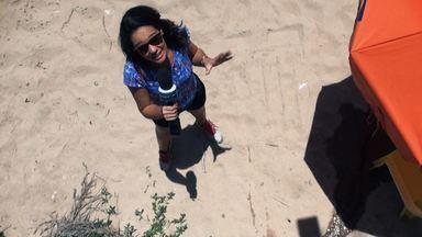 O Pé na Pista visita a bela praia de Jauá - Renata Menezes e a equipe do Mosaico mostra as belezas de Jauá