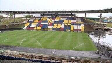 Kléber Andrade recebe reformas para o jogo do Flamengo x América MG - Reforma do estádio que começou em 2010 ainda não terminou.