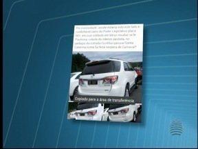 Ministério Público investiga uso de placa oficial em carro particular - Alvo da apuração é o presidente da Câmara Municipal de Paulicéia.