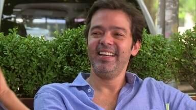 Bruno Mazzeo tem papo divertido com Angélica - Ator conversa em um de seus lugares preferidos