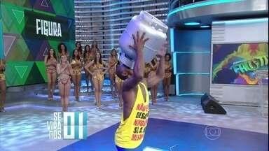 'Homem Botijão' faz show no 'Se Vira nos 30' - Participante é de Juiz de Fora