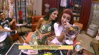 Bianca Andrade ensina maquiagem para disfarçar a cara de sono - Gelo ajuda a tirar o inchaço do rosto na hora de acordar