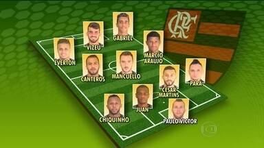 Flamengo tem três desfalques e poupa mais cinco jogadores para o jogo contra a Cabofriense - A partida acontece nesta quarta-feira em Macaé.