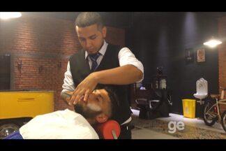 Atualmente no Remo, Ciro, ex-Sport, vai à barbearia dar um tapa no visual - Atualmente no Remo, Ciro, ex-Sport, vai à barbearia dar um tapa no visual