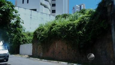 Mulher reclama de descuidos em terrenos de vizinhos que podem se tornar focos da dengue - De acordo com Dona Ana, os terrenos estão abandonados.