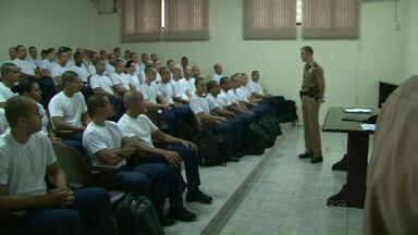 Novos recrutas começam treinamento na sede da Polícia Militar - No total serão 80 novos policiais em Paranavaí. Outros 43 para Umuarama e 40 para Cianorte.