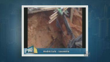 Estrada em Louveira apresenta riscos para os motoristas - Um telespectador enviou um vídeo para o Jornal da EPTV.