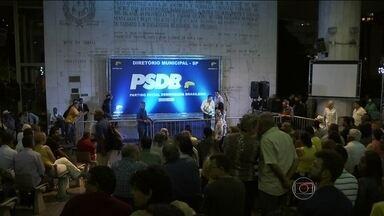 Executiva municipal do PSDB está reunida para validar o primeiro turno da prévia - No domingo (28) à noite, mais de 6 mil filiados participaram da votação que terminou em briga e confusão.