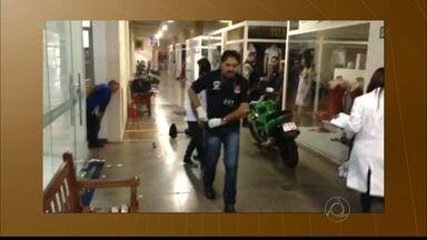 Bandidos invadem shopping no Bairro dos Estados e arrombam caixa eletrônico - Oito homens fizeram dois vigilantes reféns e roubaram caixa eletrônico.