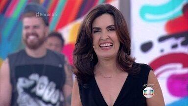 Fátima Bernardes diz que está 100% na volta ao 'Encontro' - Apresentadora conta que sentiu muito enjoo por causa da forte virose que teve