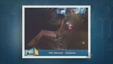 Imóvel abandonado fica destruído após incêndio em Campinas, SP - Estrutura no Jardim Nossa Senhora Auxiliadora pegou fogo na noite de sexta (4).