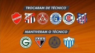 Apenas quatro times não trocaram de técnico no Goianão 2016 - Goiás, Atlético-GO Aparecidense e Crac mantêm os treinadores deste o início, enquanto concorrência opta pela mudança.
