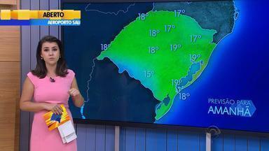 Tempo: alerta para temporais segue na quinta-feira (10) no RS - Temperaturas sobem pela tarde na Fronteira Oeste do estado.