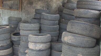 MP-RO expede recomendação para que borracharias descartem pneus de maneira correta - Medida visa diminuir criadouros do mosquito transmissor da dengue ou zika.