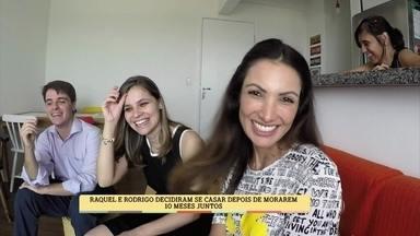 Patrícia Poeta visita noivos na semana que antecede o casamento - Casal conta detalhes da cerimônia e fala sobre a convivência