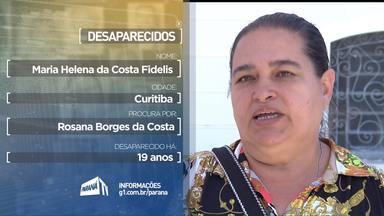 Acompanhe o depoimento de quem procura por parentes desaparecidos - Estes depoimentos foram exibidos durante a programação da RPCTV