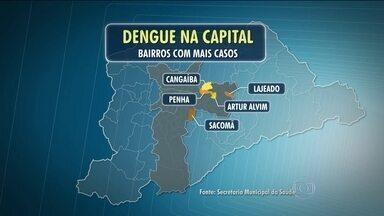 Levantamento aponta para aumento nos casos de dengue na capital - O último levantamento da Prefeitura da capital mostra que o número de casos da dengue nas duas primeiras semanas de fevereiro ficou bem perto do total do mês todo de janeiro. A Zona Leste segue como sendo a região mais afetada pela doença.