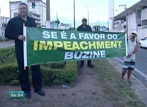Linhares tem protesto contra Lula e Dilma, no ES - Manifestantes foram para a BR-101.
