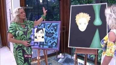 Vera Fischer mostra seus quadros - Atriz conta que pintou cerca de 300 quadros em dois anos