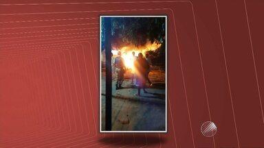 Pacientes são retirados às pressas de hospital após homem provocar incêndio, no interior - O caso foi em Boa Vista do Tupim. Segundo a polícia, o homem ateou fogo na unidade após a morte da namorada.