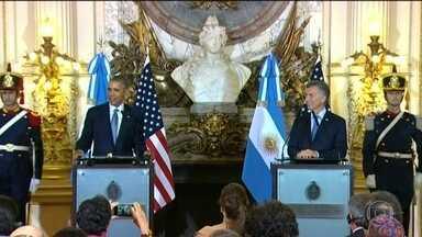 Presidentes dos EUA e Argentina falam sobre a crise brasileira - Os presidentes dos Estados Unidos e da Argentina, reunidos em Buenos Aires, falaram da crise brasileira e, nas entrelinhas, deixaram transparecer preocupação.