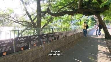 Ong Rio de Paz faz homenagem a crianças vítimas da violência - A Ong Rio de Paz instalou placas com os nomes de crianças até 14 anos, que morreram, no Rio, vítimas de balas perdidas, desde 2007.