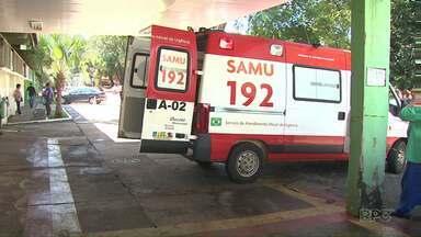 Hospital Municipal não tem vagas para a UTI e Pronto Socorro - Um idoso de 82 anos teve que esperar na ambulância por mais de uma hora. Ele precisava de uma vaga na UTI.
