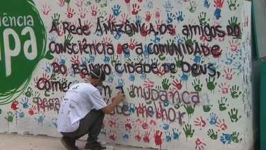 Projeto Consciência Limpa da Rede AM encerra atividades na Zona Norte de Manaus - Foi realizada e entrega simbólica do igarapé limpo.