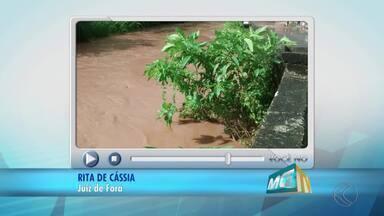 VC no MGTV: Córregos de Juiz de Fora são registrados sem capina - Problema está nos bairros Francisco Bernardino e Santa Efigênia. Demlurb disse que locais serão limpos.